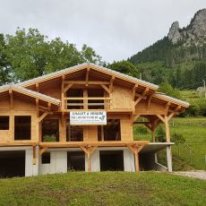 Very nice chalet in construction in Bernex